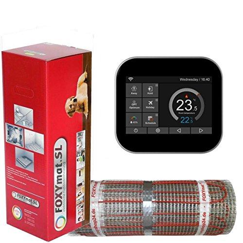 elektrische Fußbodenheizung FOXYMAT.SL RAPID (200 Watt pro m²) mit Thermostat FOXYREG SPS, Komplett-Set, 2.0 m² (0.5m x 4m)