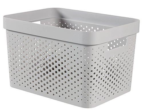 CURVER Infinity Box 17L Aufbewahrungsbox, Plastik, grau, 35.6 x 26.6 x 21.8 cm