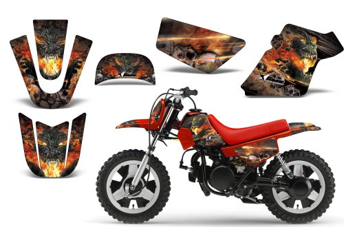 Firestorm-AMRRACING MX Graphics decal kit fits Yamaha PW50 All years-Black