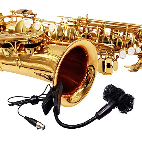 Saxophone Trumpet Microphone for akg Pocket Transmitter Wireless System 3pin Mini XLR Connector Clip on Instrument mic