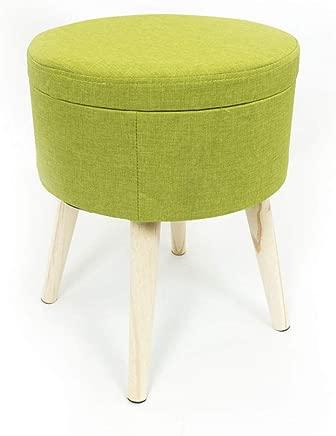 Capitan Casa Round Stool with Box Compression Plain Sgabello green