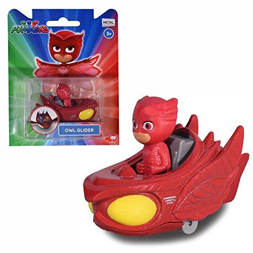 PJ Masks Selección Vehículos con Figura | Die Cast Dickie Toys, Figuras de Acción:Owlette