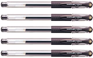 Uni Gel Ballpoint Pen Uni-Ball Signo Extra Fine 0.38mm, Brown Black 5pcs