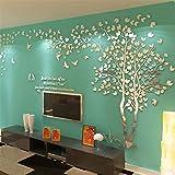 Albero Adesivo da Parete, Alberi e Uccelli 3D Adesivi Murali Arts Wall Sticker Decorativi ...
