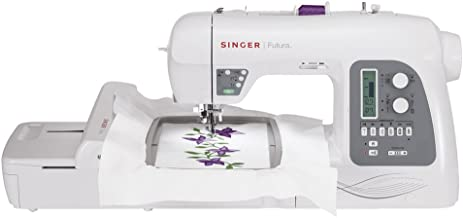 SINGER Futura XL-550 Embroidery and Sewing Machine Including 125 Embroidery Designs, 215 Built-in Sewing Stitches, Automatic Thread Cutter, Perfect for Sewing All Types of Fabrics with Ease