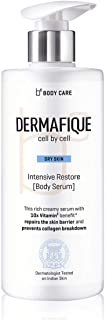 Dermafique Intensive Restore Body Serum, Body Lotion for Dry Skin, 10x Vitamin E, Deeply hydrates and moisturizes, Repairs...