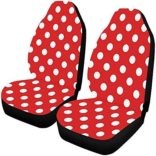 J.HAN Autositzbezüge Vordersitze 2 Stück Lustige Bunte Tupfen Autositzbezüge Fahrzeugsitz Schutz Autoplanen Für Auto Cars Limousine SUV