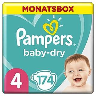 Pampers Baby-Dry Windeln, Gr. 4, 9kg-14kg, Monatsbox (1 x 174 Windeln) (B00AR9HWZ0) | Amazon price tracker / tracking, Amazon price history charts, Amazon price watches, Amazon price drop alerts