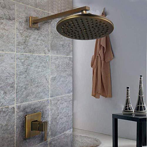 W-SHTAO L-WSWS conjuntos de ducha conjunto de ducha nuevo montaje en pared 8 pulgadas baño ducha mezclador grifo w/pulverizador mano latón antiguo ducha ducha grifo