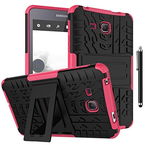 SsHhUu Case for Galaxy Tab Tab A6 7.0 2016 SM-T280/SM-T285, Heavy Duty Hybrid Rugged Protective Case Tough Dual Layer Cover with Kickstand for Samsung Galaxy Tab A6 7.0 2016 SM-T280 SM-T285, Rose
