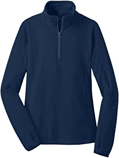 Ladies Microfleece 1/2-Zip Pullover Sweatshirts in Sizes: XS-4XL