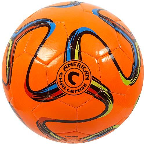 American Challenge Brasilia Soccer Ball (Orange, 5)