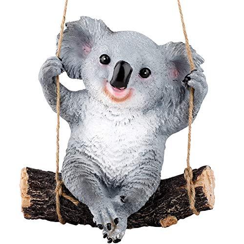 YHNJI - Figura decorativa de oso de koala, 1 pieza de resina para exteriores
