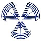 YJDTYM Blades Protection Frame Guard/Fit para SYMA X5 X5C X5C-1 X5SC X5SW Protectores de la hélice RC Quadcopter Accesorios Drone Repuestos (Color : Light Green)