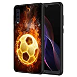 Galaxy A10E Case, Vobber Shockproof Architecture Silicone TPU Protective Case Cover for Samsung Galaxy A10E,Fire Football