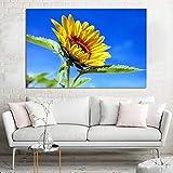 ganlanshu Pintura sin Marco Girasol Cielo Azul decoración del hogar impresión Moderna decoración Pintura Sala Arte de la paredZGQ4542 60X90cm
