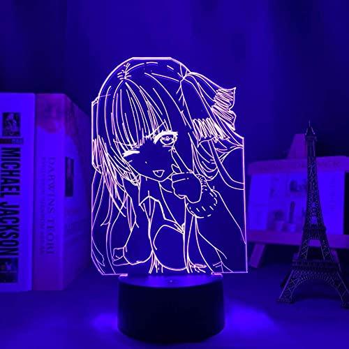 Luz nocturna 3D ilusión – Lámpara de noche LED con personaje anime – con mando a distancia – 7 colores regulables – Lámpara de mesa para dormitorio – Niños Navidad regalos de cumpleaños