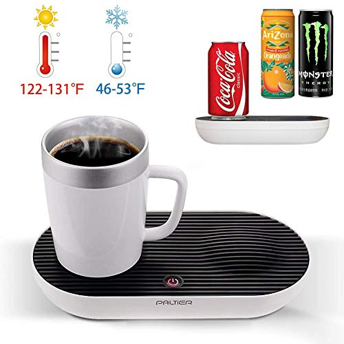 Coffee Mug Warmer, PALTIER Coffee Mug Warmer Electric Desktop Heated and Cooling Coffee Tea Mug...