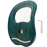 Arpa lira, 19 corde con corpo in mogano accordabile a 19 toni, strumento musicale portatil...