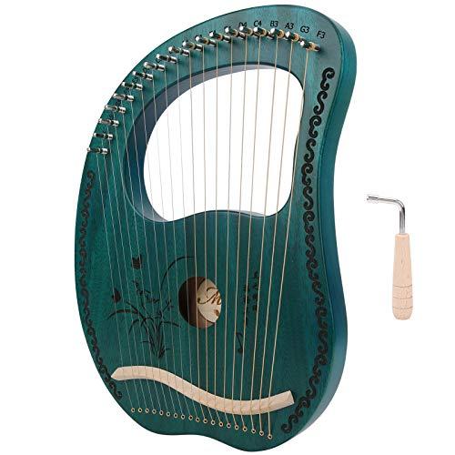 Vbest life Green 19 Saiten Mahagoni Holz Lyra Harfe mit Stimmschlüssel für Musikliebhaber