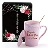 Birthday Gifts for Women-Remember I Love You Mom, Funny Birthday Gift Ideas for Mom, Her, Grandma, Wife, Female, Sister, Friends, 14 oz Ceramic Coffee Mug for Thanksgiving Day, Mother's Day, Christmas