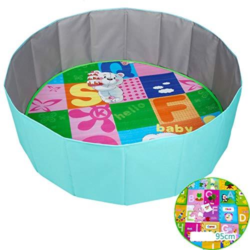 GUO@ Parc de bébé pour enfants Sécurité jeu clôture clôture piscine Ocean Ball Baby Accueil intérieur clôture clôture pliable enfant bébé jouer avec tapis Mat Mat Color Random