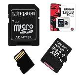 Acce2s - Carte Mémoire Micro SD 128 Go Classe 10 pour Samsung Galaxy A10 - A40 - A50...