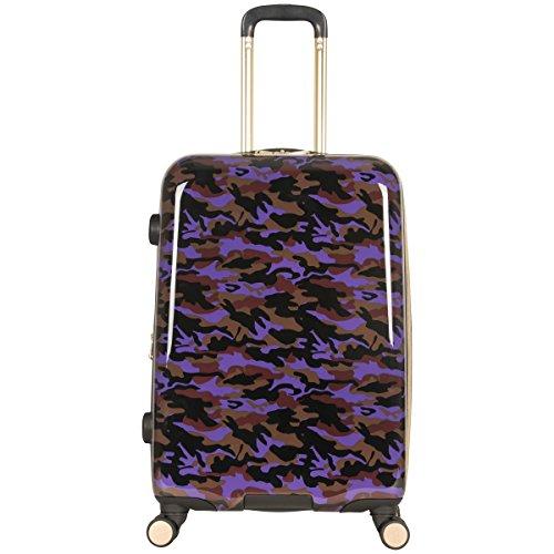 Aimee Kestenberg Women's Sergeant 24' Camo Printed Hardside Expandable 8-Wheel Spinner Checked Luggage, Purple