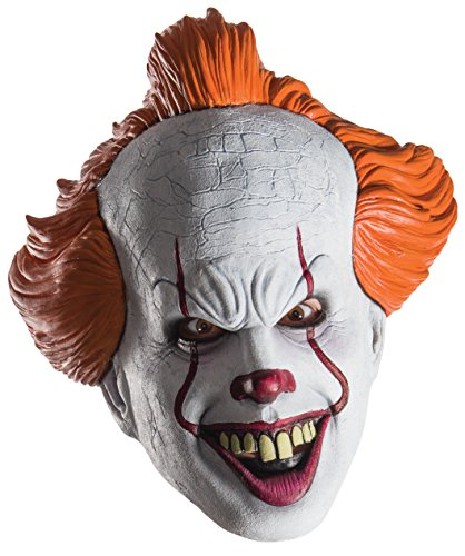 Rubie's mens Pennywise Costume Mask, As Shown, Adult US