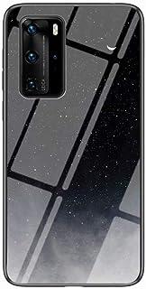 جراب Mylne Glass لهاتف Huawei P40 Pro، Sky Series 9H من الزجاج المقسى بغطاء خلفي صلب مع إطار من السيليكون الناعم الواقي له...