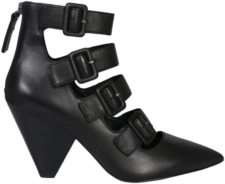 ASH Damen Damen Dolby03schwarz Schwarz Leder Stiefeletten  heißer Sport