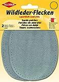 Kleiber Wildleder-Flecken, grau, 12,5 cm x 10 cm
