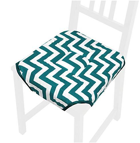 emmevi Cojín para silla de algodón moderno a rayas Zig Zag funda universal lavable ROSA11D verde