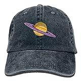ANIDOG Gorra de béisbol Vaqueros Planet Saturn Sombreros de Golf Unisex Gorra de Mezclilla Lavada