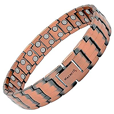 MagnetRX Pure Copper Magnetic Therapy Bracelet | Arthritis Pain Relief & Carpal Tunnel Relief Ultra Strength Copper Magnetic Bracelets for Men