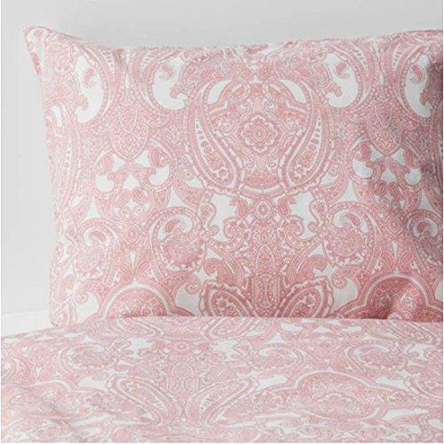 JÄTTEVALLMO IKEA Bettwäscheset in rosa; 100% Baumwolle; 3-teilig; (240x220/80x80cm)