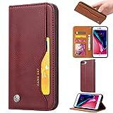 Étui portefeuille en cuir pour iPhone 6 Plus/7 Plus/8 Plus avec emplacements pour cartes et...