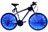 2 Pack Led Bike Wheel Light | Waterproof Bicycle Tire Light | Safety Battery Spoke Lights for Kids and Adult| Cool Bike Accessories and Decoration for bicyclers to ride at night (Blue)