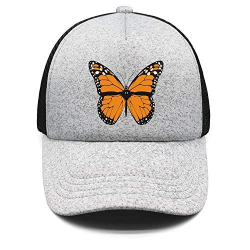 Kids Boys Girls Sandwich Hat Illinois Monarch Butterfly Adjustable Baseball Cap