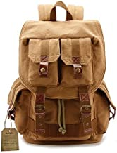 Canvas Camera Backpack by G-raphy with Rain Cover for DSLR Cameras