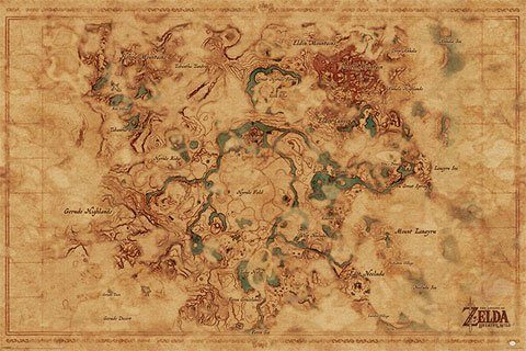 Legend of Zelda, The - Poster - Breath of The Wild - Hyrule World Map + Ü-Poster