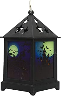Halloween Decorative Candle Lanterns   1 Piece Cute Holiday Design Lantern with Battery Operated Flameless LED Candle   Colorful Halloween Hanging Lanterns Ideal for Indoor Outdoor Use (B)