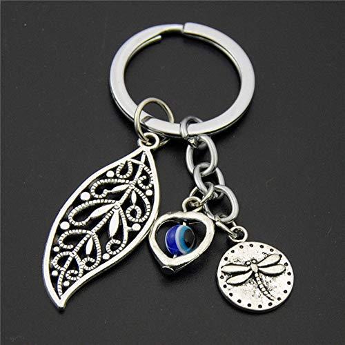 XHYKL sleutelhanger haas paashaas met kruis van antiek zilveren hanger met parels van hout doodshoofd van hout voor geschenk