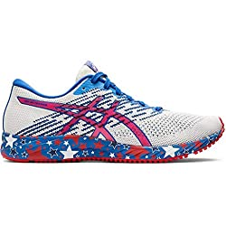ASICS Women's Gel-DS Trainer 24 Running Shoes, 7.5M, White/Speed RED