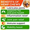 All-Natural Hemp Chews + Glucosamine for Dogs - Advanced Hip & Joint Supplement w/Hemp Oil Turmeric MSM Chondroitin + Hemp Protein to Improve Mobility - Joint Pain Relief Made in USA - Bacon Flavor #4