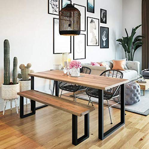 New Popular standard UMBUZÖ Detroit Mall Wood Dining Table Bench