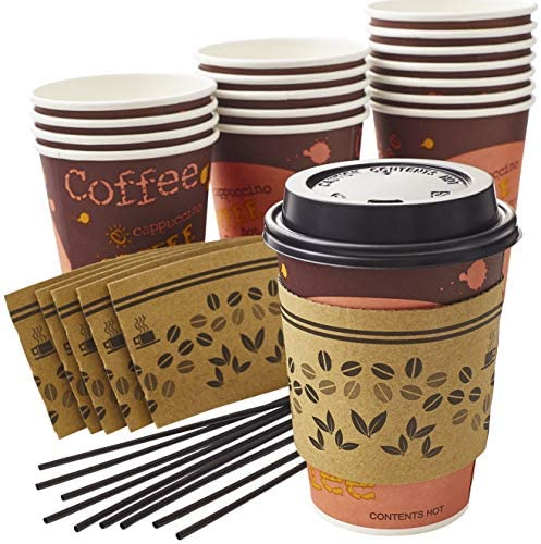 Top 10 Best paper coffee cups with lids Reviews