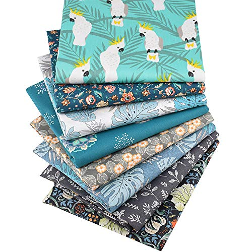iNee Bloom Fat Quarters Quilting Fabric Bundles Bloom Sewing Quilting Fabric 18 x 22 inches,