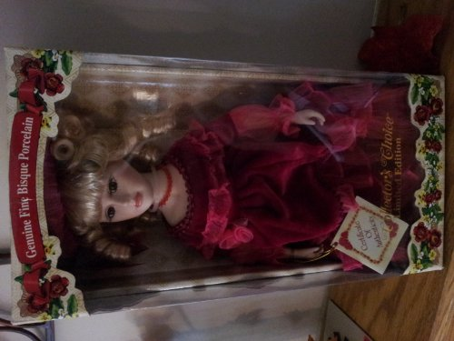 Collectors Collection Limited Edition Geniune Fine Bisque Porcelain Doll