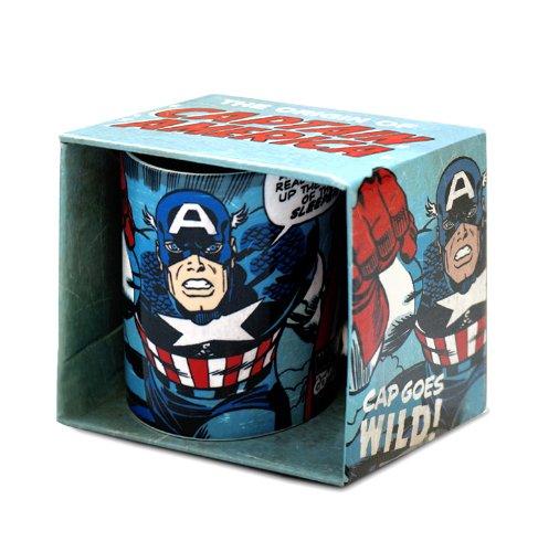 Kaffeebecher Captain America - Marvel Comics - blau - Tasse - Lizenziertes Originaldesign - LOGOSHIRT